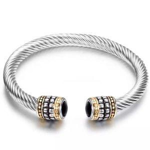 ❤️ Cable Twist Onyx Rhinestone Bracelet ❤️